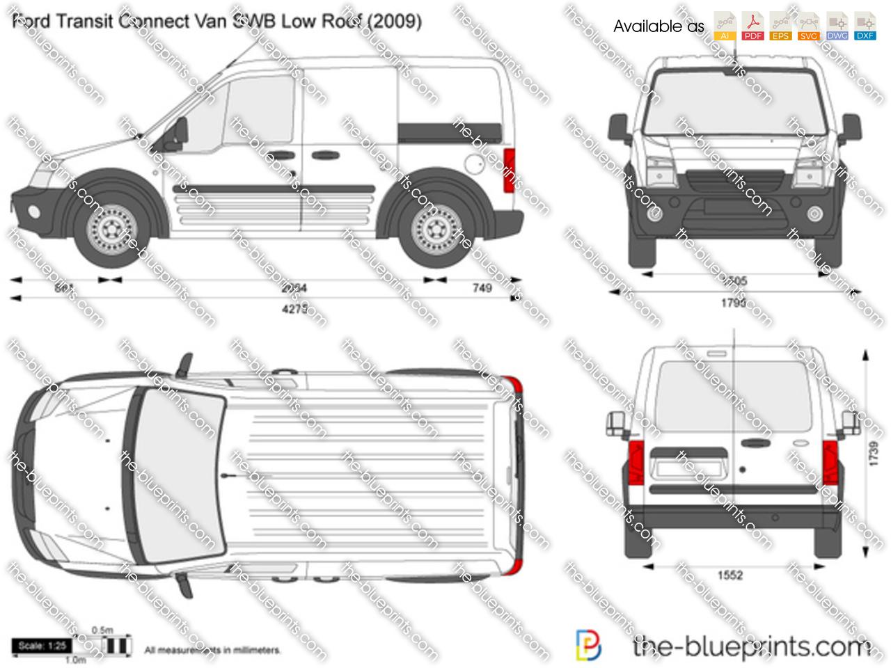 Ford Transit Connect Minivan Blueprints