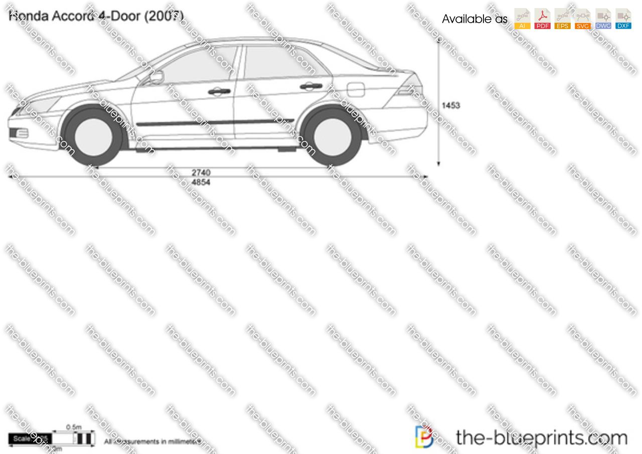 Honda Accord 4 Door Vector Drawing