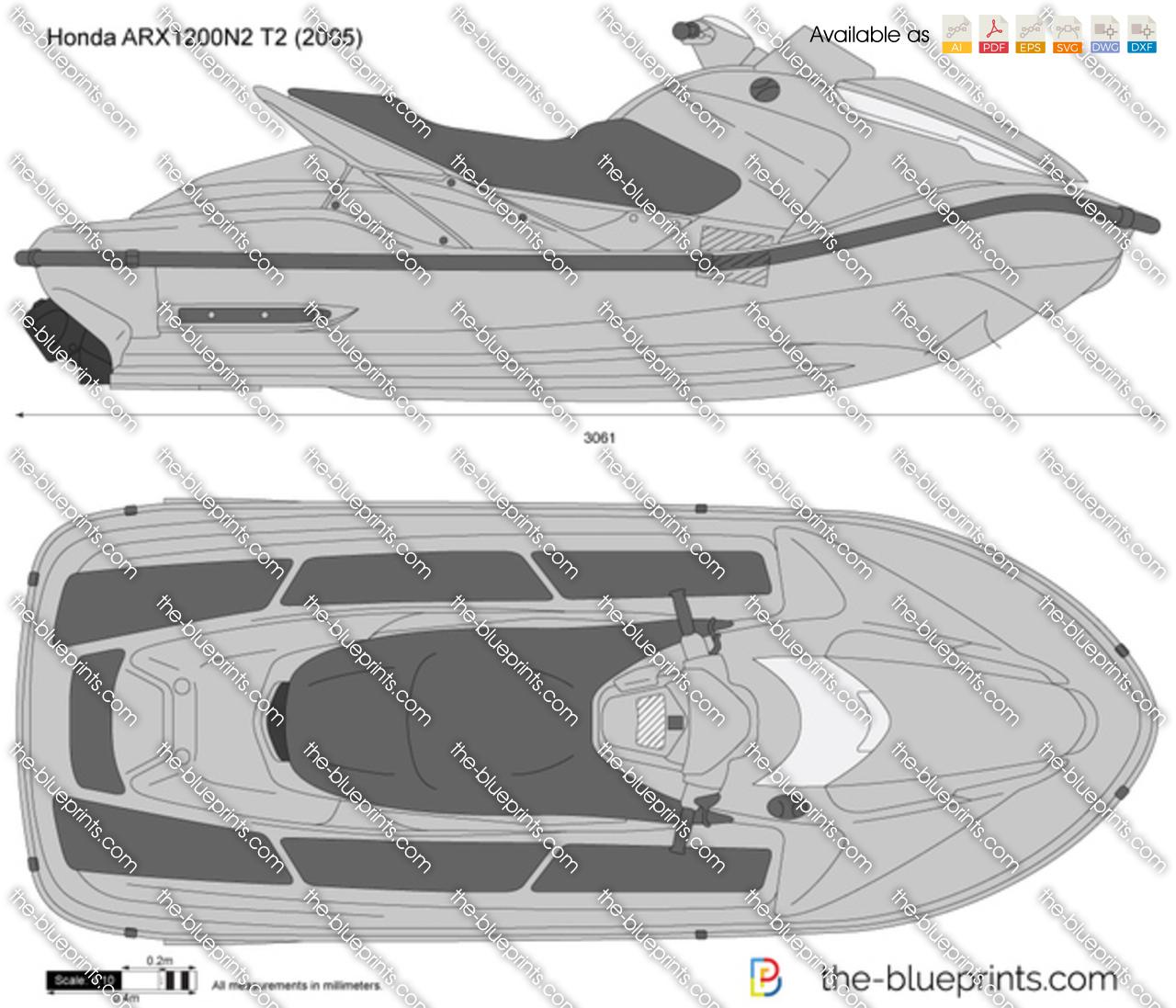Honda Arx N2 T2 Vector Drawing