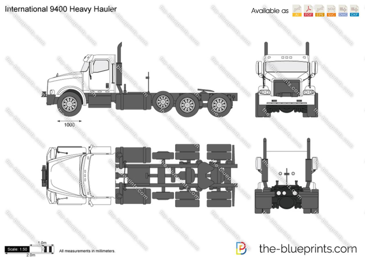 International Heavy Hauler Vector Drawing