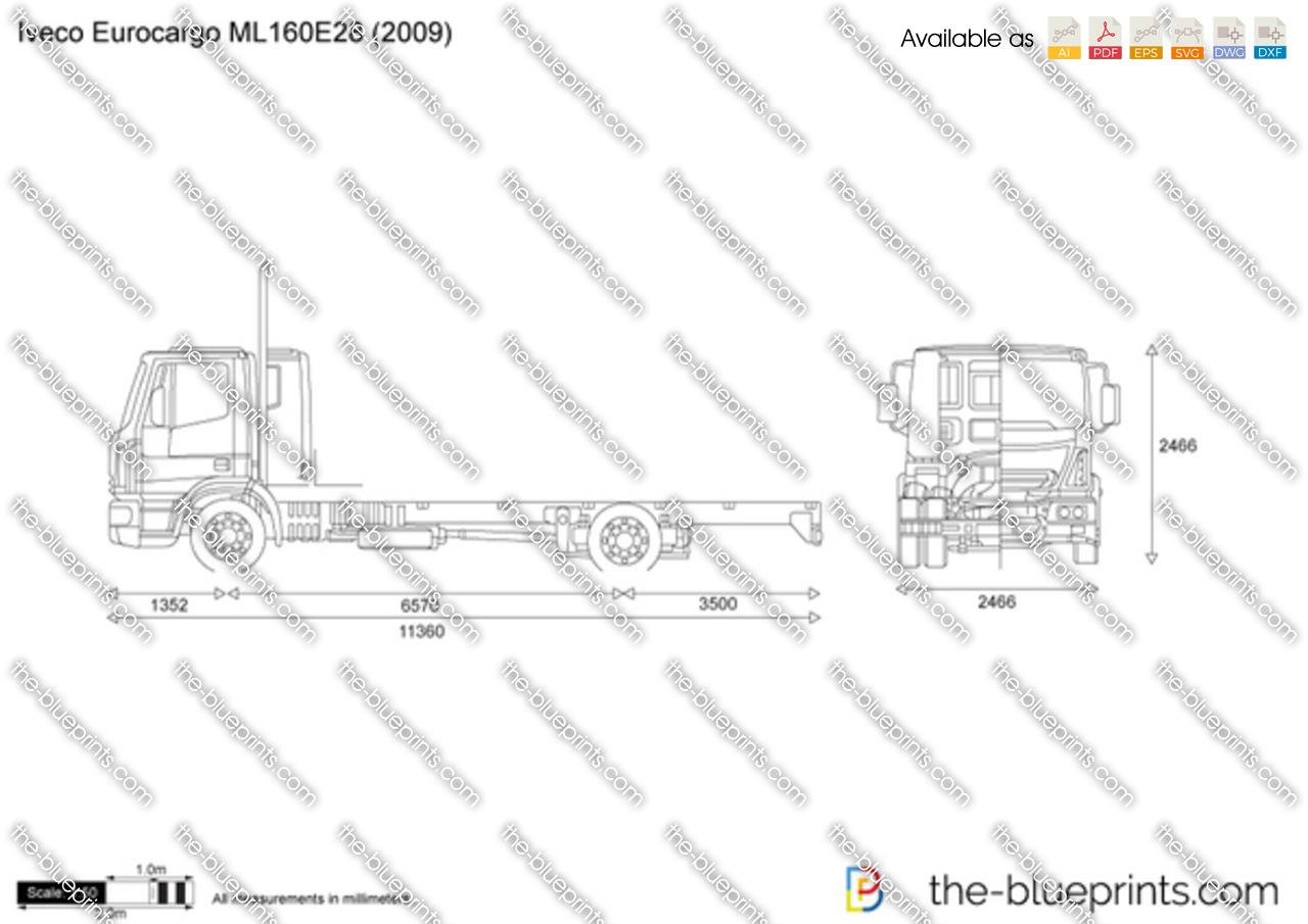 Iveco Eurocargo Ml160e28 Vector Drawing