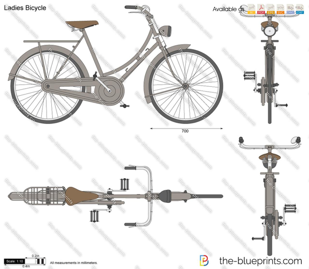 La S Bicycle Vector Drawing