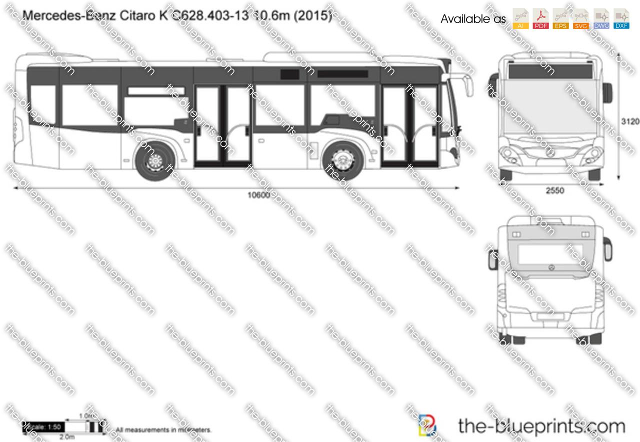Mercedes Benz Citaro K C628 403 13 10 6m Vector Drawing