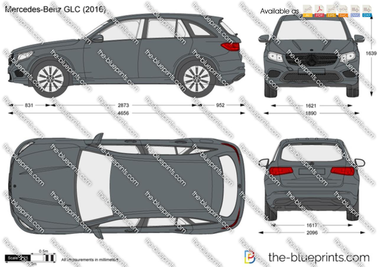 Mercedes Benz Glc Vector Drawing