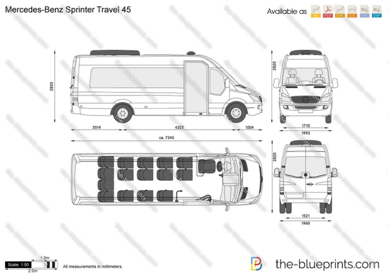 Mercedes Sprinter Cad Drawings