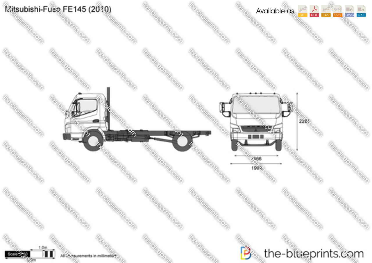 Mitsubishi Fuso Fe145 Vector Drawing