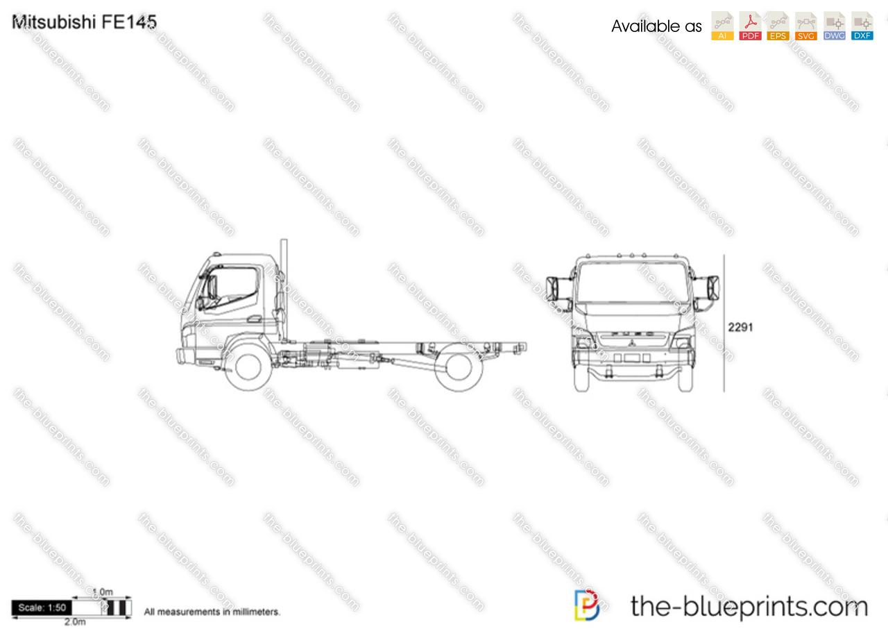 Mitsubishi Fe145 Vector Drawing