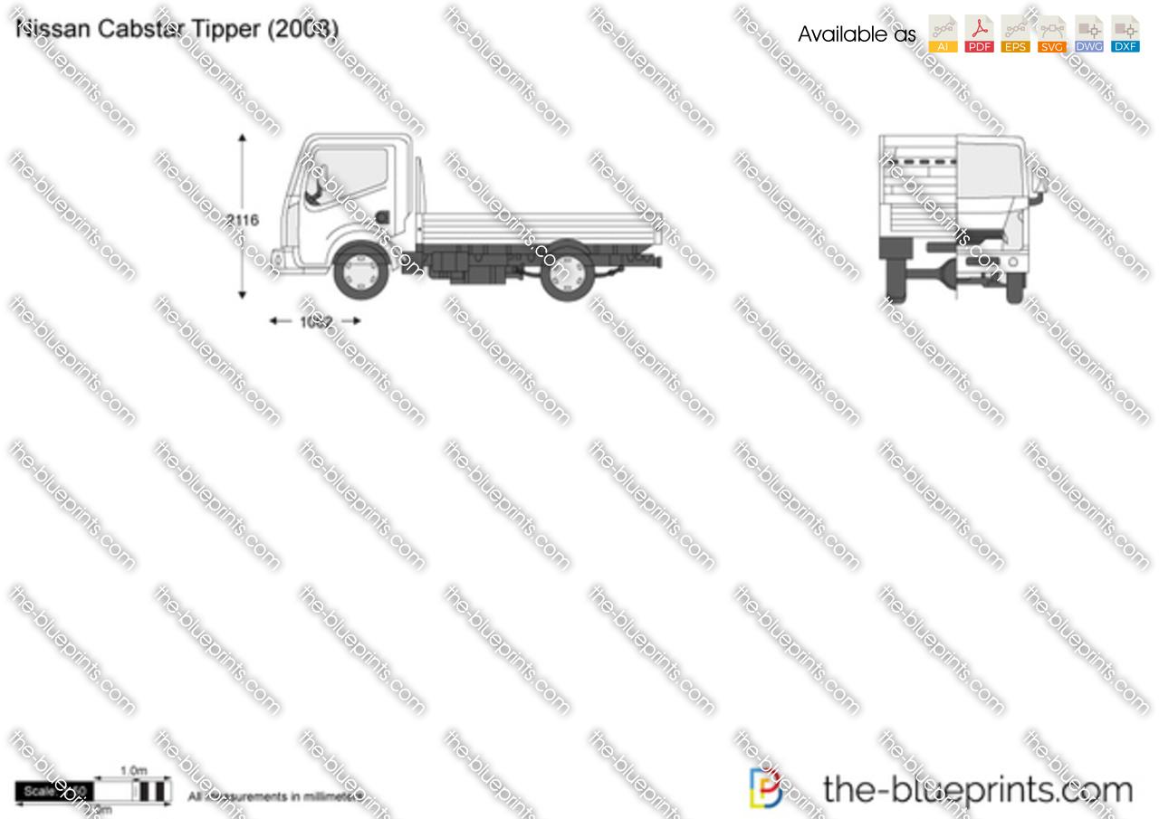 Nissan Cabstar Tipper Vector Drawing
