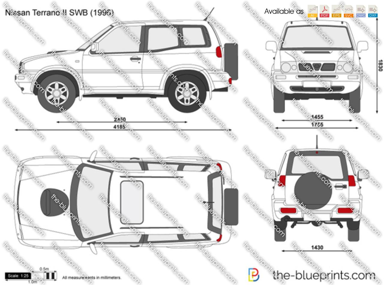 Nissan Terrano Dimensions