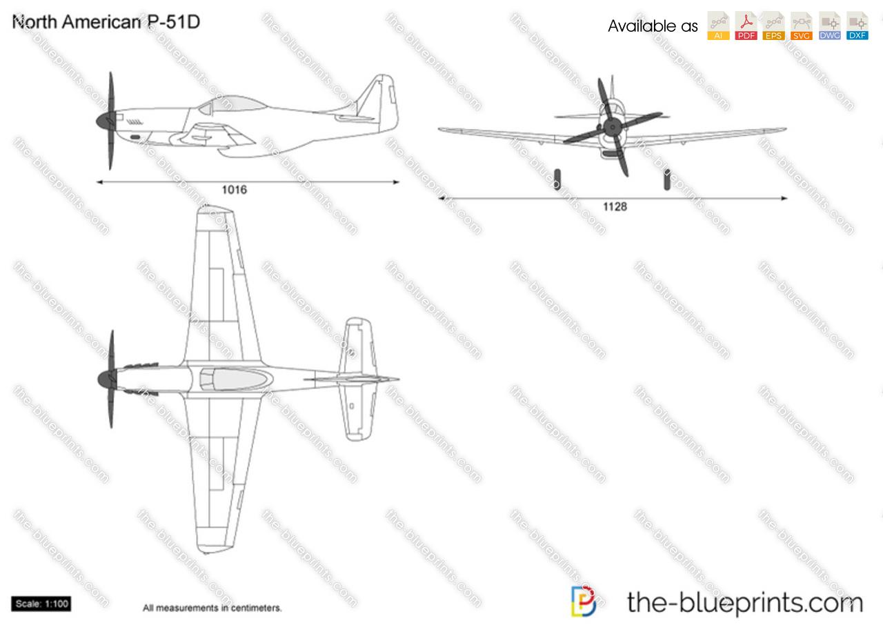 North American P 51 Mustang Blueprints