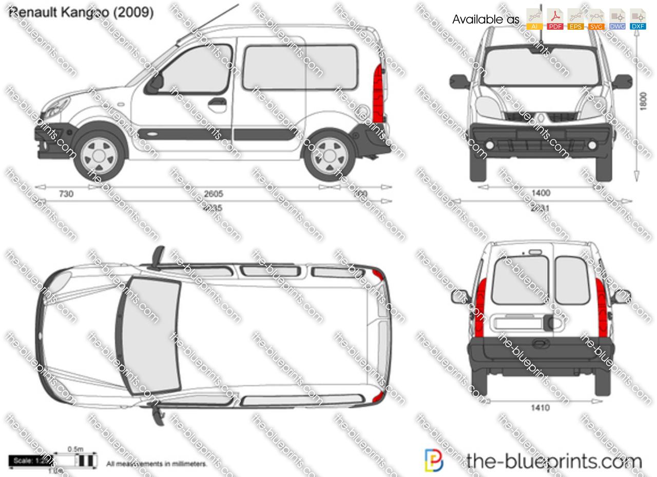 Renault Kangoo Vector Drawing
