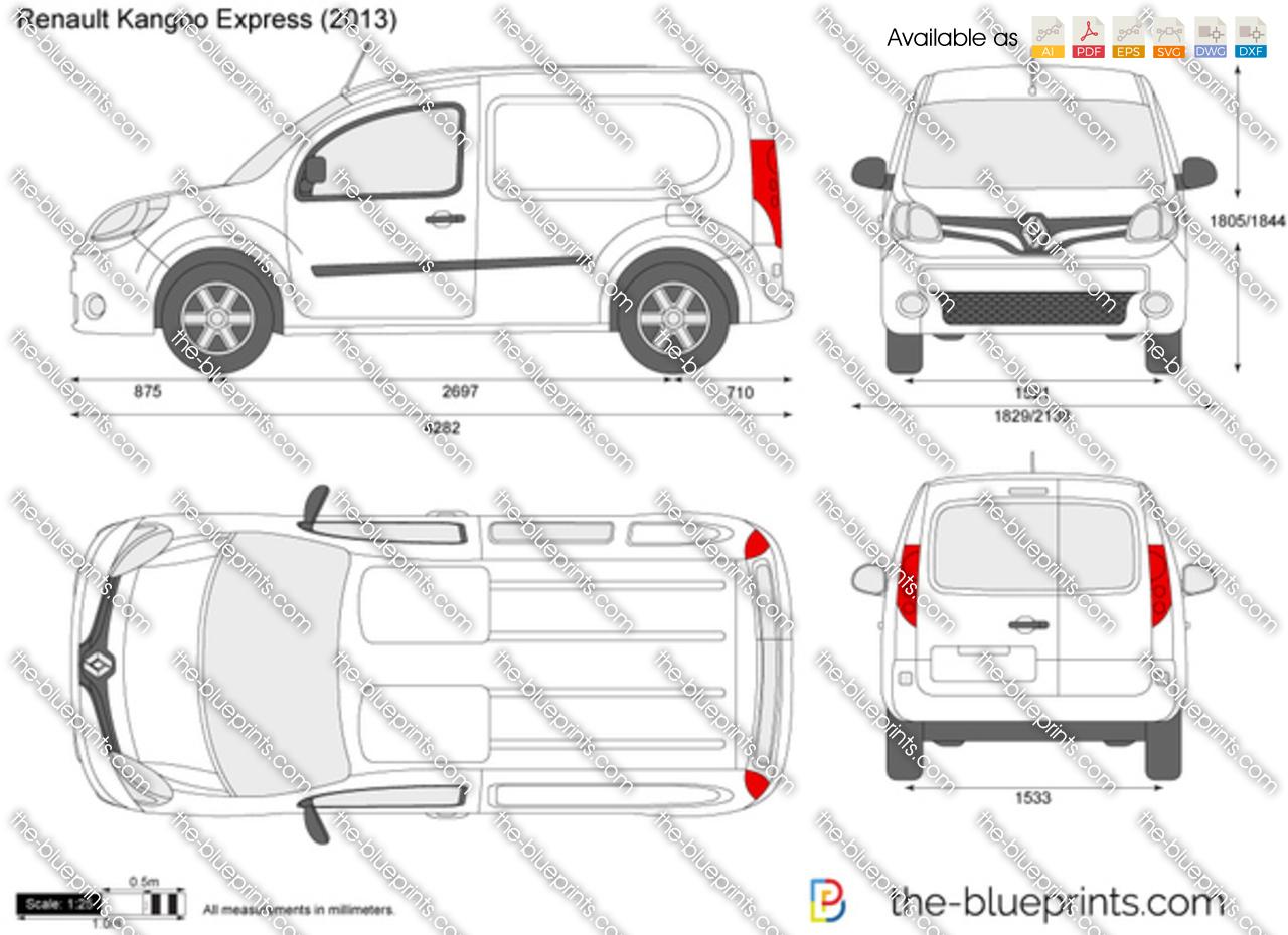 Renault Kangoo Express Vector Drawing