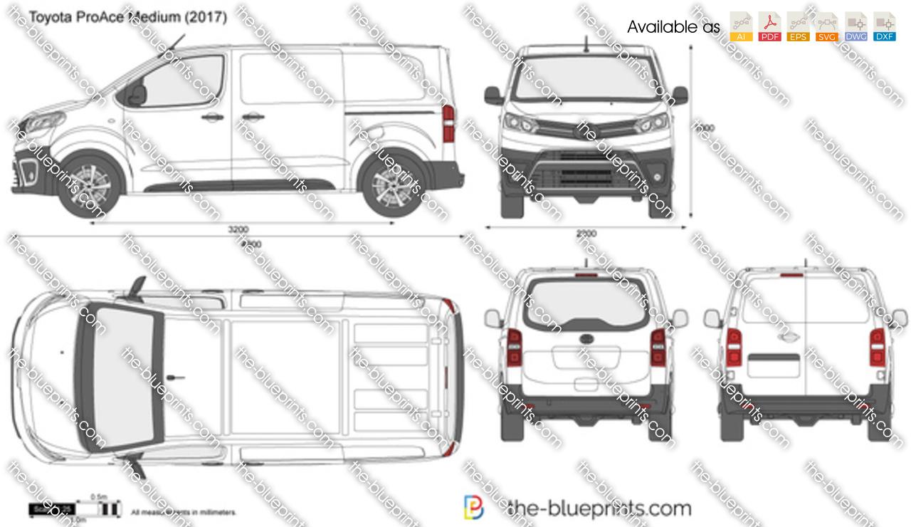 Toyota Proace Medium Vector Drawing