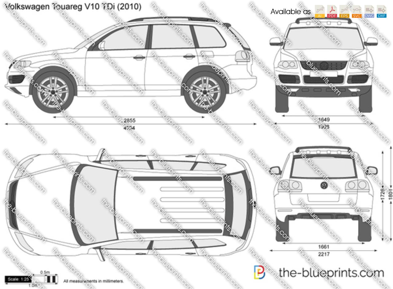 Volkswagen Touareg V10 Tdi Vector Drawing