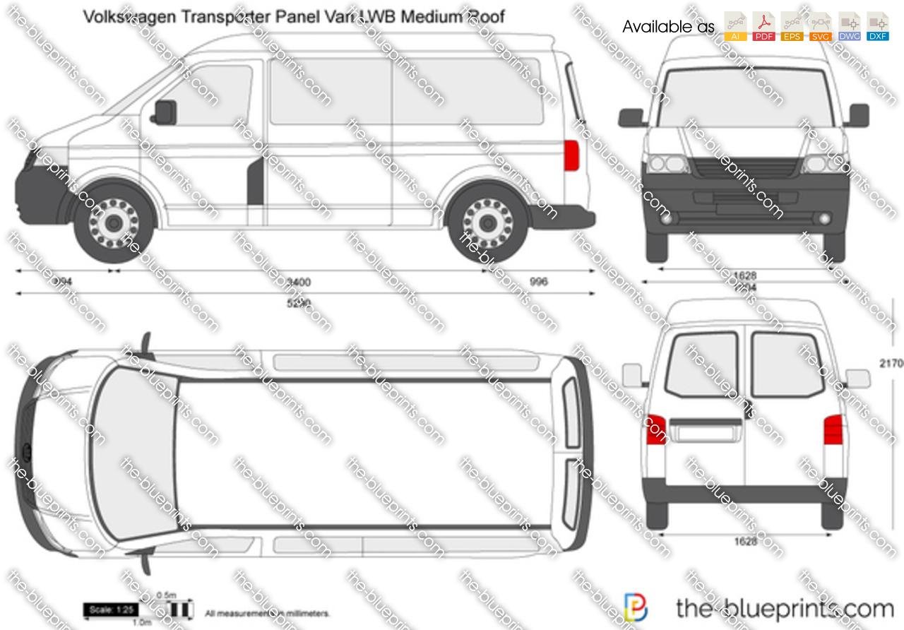 Volkswagen Transporter T5 Panel Van Lwb Medium Roof Vector