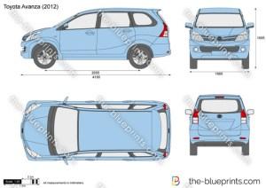 TheBlueprints  Vector Drawing  Toyota Avanza