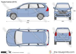 Toyota Avanza vector drawing