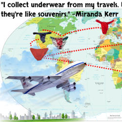 Miranda Kerr – Collect Underwear from Travels Quote