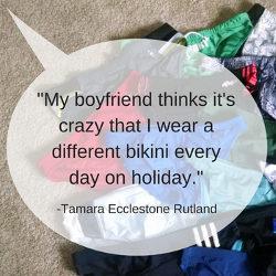 My boyfriend thinks it's crazy…Tamara Ecclestone Quote