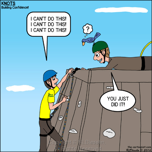 Building Confidence Knots Scout Cartoon For May 2016