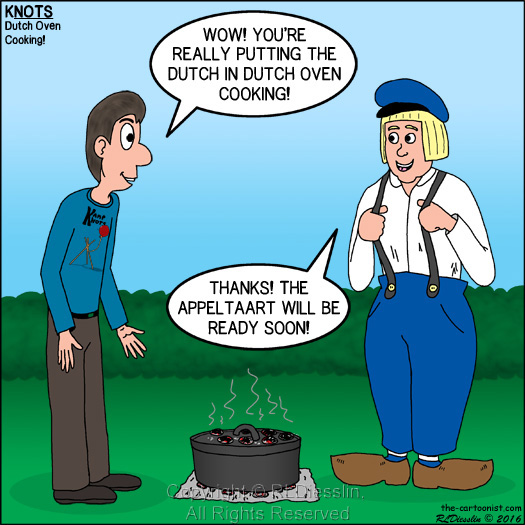 Dutch Oven Cooking Knots Scout Cartoon For November 2016