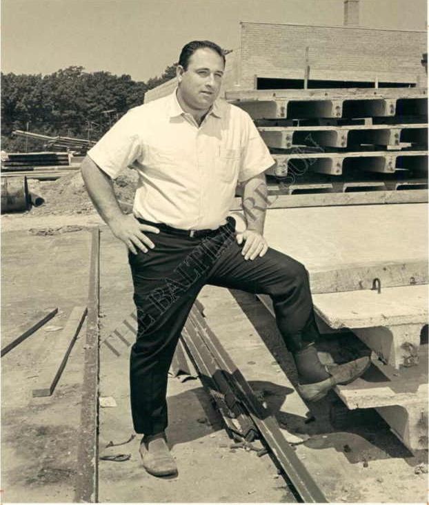 Larry Millison at construction site of Millison Plaza in Lexington Park. Photo courtesy of Commissioner Larry Millison