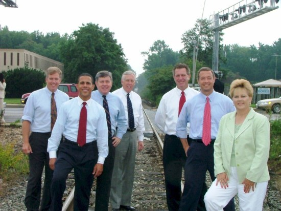 Democrats posed for photo on CSX tracks and promised to extend MARC service to So Md in 2006. They never delivered on this photo and somehow the daily coal train missed them.