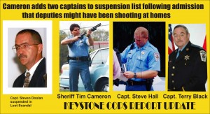 Keystone Cops shoot at occupied homes -2 top cops benched