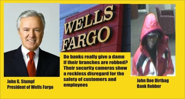 Wells Fargo Bank robber and prez