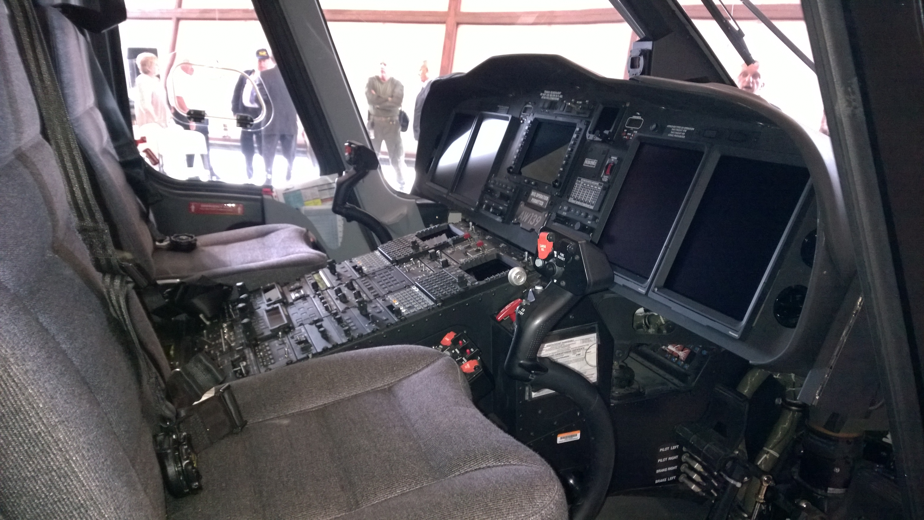 The cockpit of the Maryland State Police Trooper Seven medevac helicopter. THE CHESAPEAKE TODAY photo