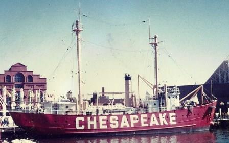 The Chesapeake Lightship was on duty for decades at the entrance to the Chesapeake Bay. It now is on display at the Inner Harbor in Baltimore. THE CHESAPEAKE TODAY photo
