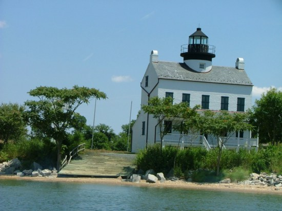 St. Clements Island, also known through the years as Blackistone Island, now is home to a rebuilt lighthouse. The original was abandoned as a lighthouse and then vandalized prior to being demolished by the Navy as target practice. The island is now a park and the lighthouse is open several times a year for visitors. A beach and pier greet visitors every day. THE CHESAPEAKE TODAY photo