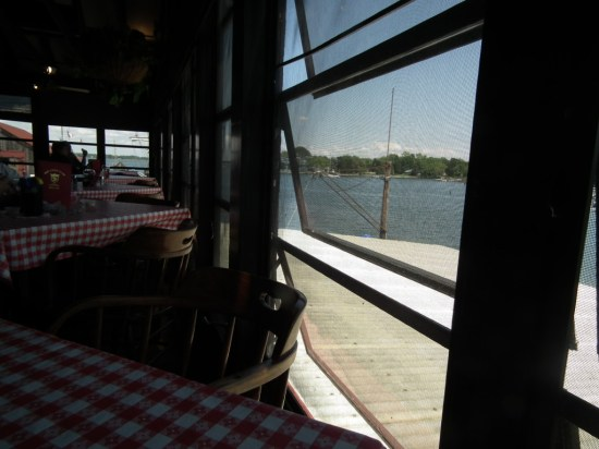 Grabbing a table at the Crab Claw and sitting next to the window and enjoying the breeze while watching the harbor traffic passes the time quickly.  THE CHESAPEAKE TODAY photo