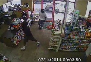 Bryans Road Shell robbery suspects in brazen morning robbery on July 14, 2014.