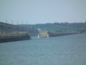 Draw span yawns without a bridge on Choptank River. THE CHESAPEAKE TODAY photo