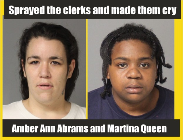 Sprayed the clerks and made them cry