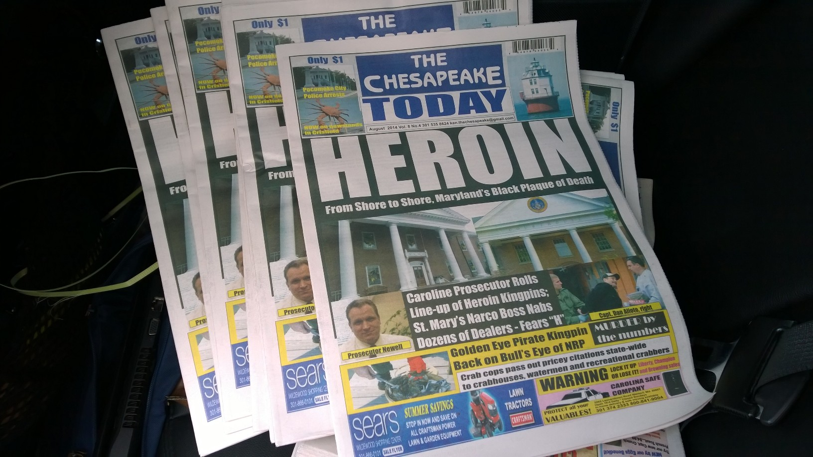 August now being delivered to newsstands