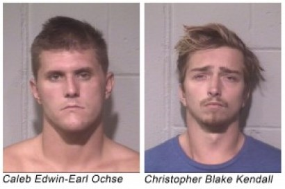 Caleb Edwin-Earl Ochse and Christopher Blake Kendall, both of Ocean City, are charged with beating a tourist to death outside the Plim Plaza hotel on Sunday Aug. 24, 2014.