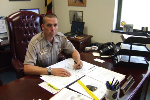 Maryland State Police Leonardtown Barrack Commander Lt. Mike Thompson. THE CHESAPEAKE TODAY photo by Matthew Ivancie.