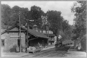 Ellicott City train station 1890 on the Old Main Line of the Baltimore and Ohio Railroad, the nation's first rail line. Near here was the 2012 derailment which killed two trespassers.