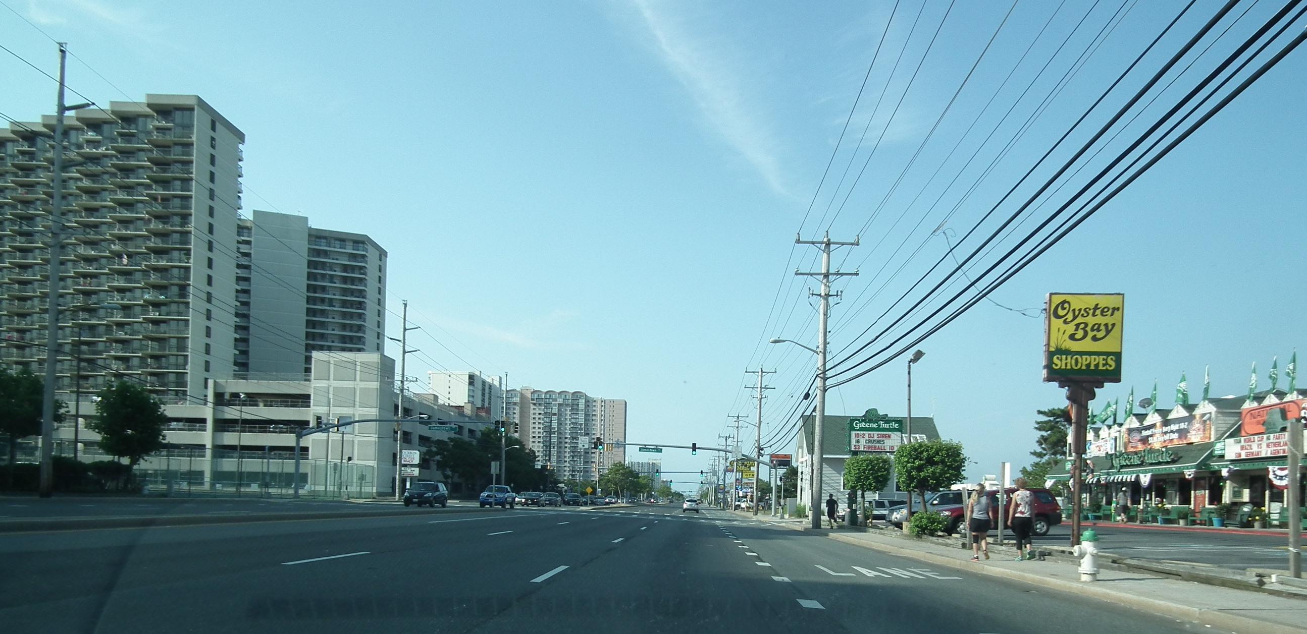 No traffic in Ocean City