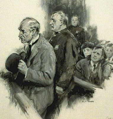 Defendant in court F. C. Yohn 1921 LoC