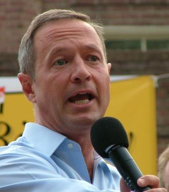 Maryland Gov. O'Malley at Hoyer bull roast. THE CHESAPEAKE TODAY photo