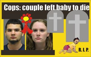 Couple left baby to die