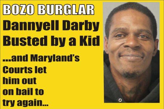 Dannyell Darby Bozo Burglar out on bail