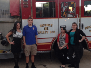 Second District Valley Lee Md firefighters and EMS volunteers with Michael Bollen.