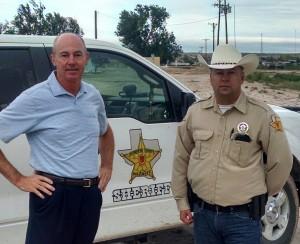 Talbot Sheriff Dallas Pope at border seminar, left, right is Hudspeth Deputy Justen Clark.