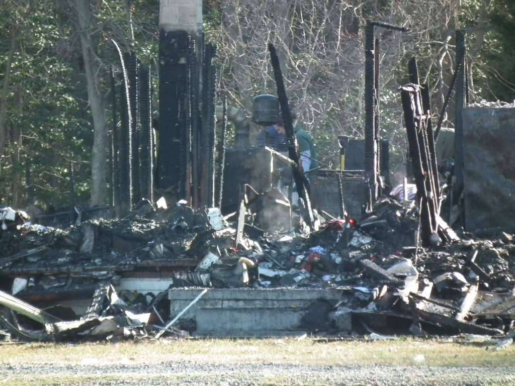 The home of Howard and Dea Hawks was a total loss when fire roared through the home at about ten o'clock in the morning.  THE CHESAPEAKE TODAY photo