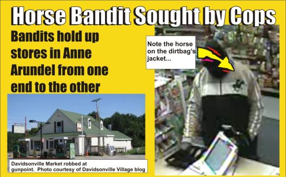 Horse Bandit Sought By AA County Cops