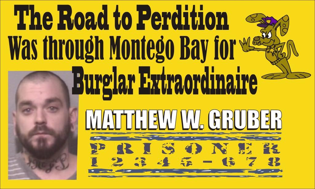 Ocean City burglar Matthew W Gruber